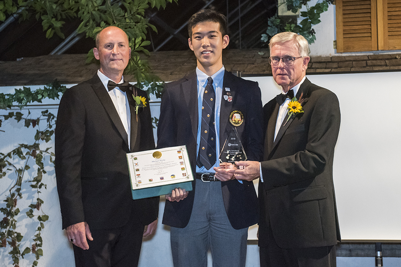 Michael Wang - Ernie Crossland Young Conservationist Award