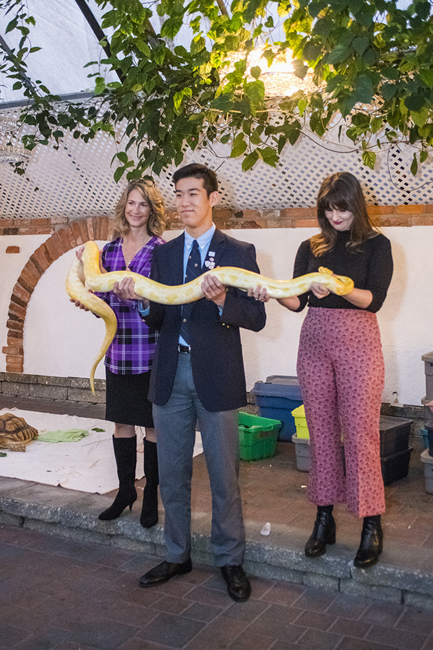 Michael Wang with Zoo To You Snake
