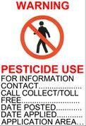 An image showing a sample pesticide sign.